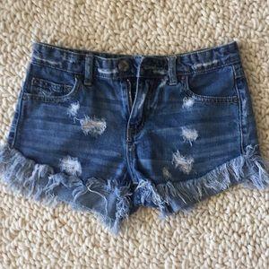 Free People Blue Denim Cutoff Shorts